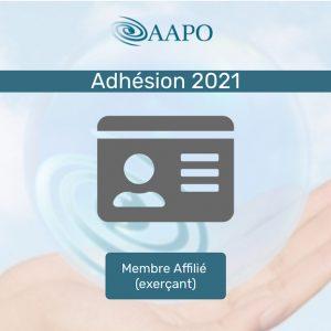 ADHÉSION 2021 – MEMBRE AFFILIÉ (exerçant)