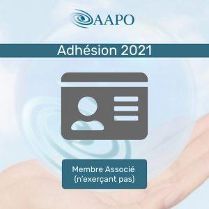 ADHÉSION 2021 – MEMBRE ASSOCIÉ (n'exerçant pas)