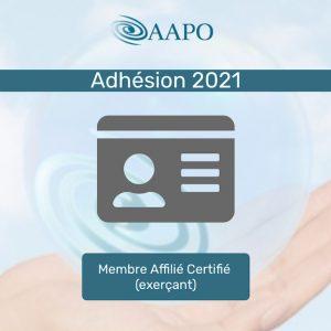 ADHÉSION 2021 – MEMBRE AFFILIÉ CERTIFIÉ (exerçant)